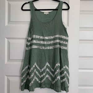 Green Dress with Lace Detail!